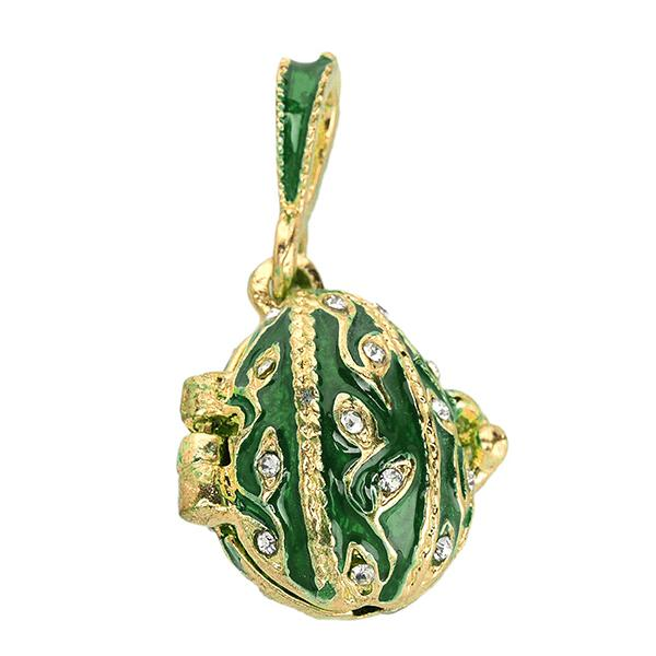 "Locket Pendant ""Twig"" (green), 1"" (1214-0104)"