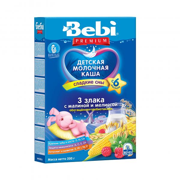 Bebi Premium Milk Porridge for Sweet Dreams with Melissa and 3 Grains, 7.05 oz / 200 g