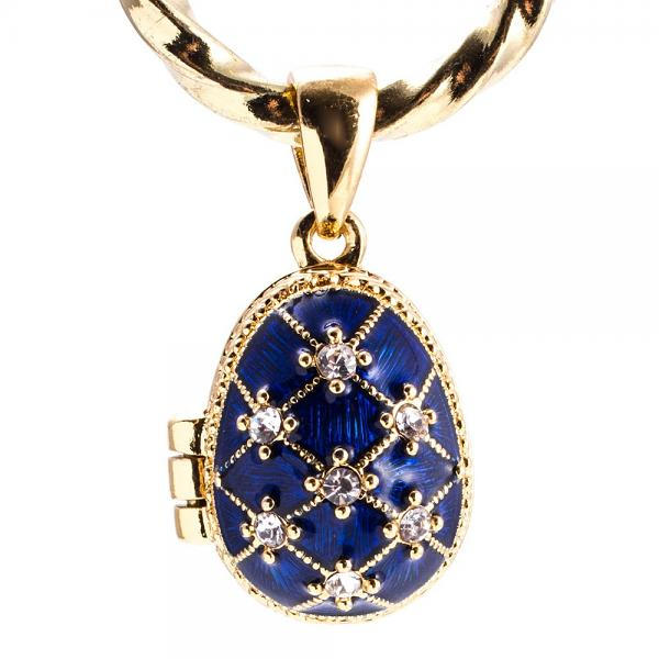 "Locket Pendant Blue Stars with an Angel, 1"" (1214-2902)"