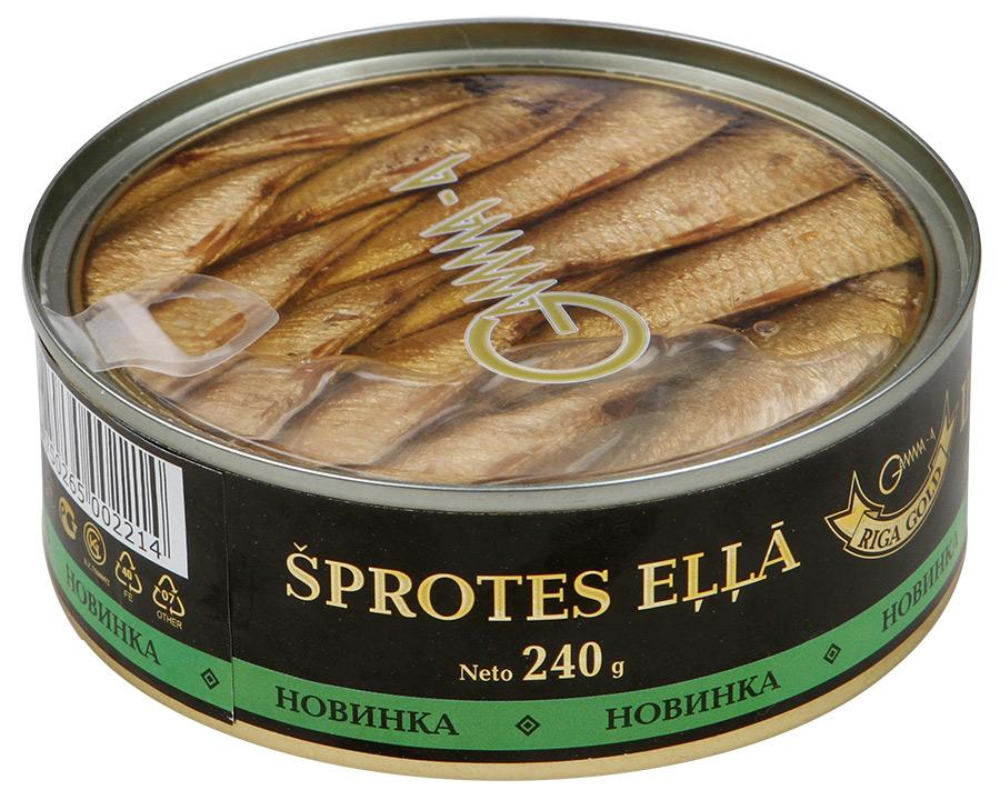 Sprats in Oil, Riga Gold, 0.53 lb/ 240g