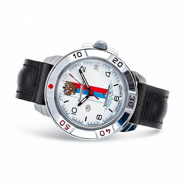 Vostok Komandirskie Military Russian Mechanical Watch Commander Russian Flag (431330)