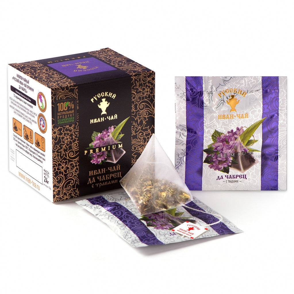 Premium Ivan-Tea and Thyme with Herbs, 12 pyramids *2gr