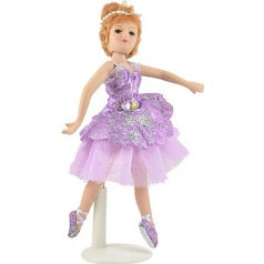 Porcelain PINK Clothing Ballerina Doll, 8, Handmade, Russian Collection (H-8409D)