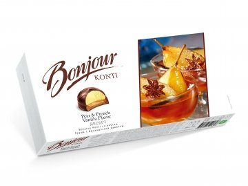 "Dessert ""Bonjour Konti"" with taste Pear with French vanilla 232g"