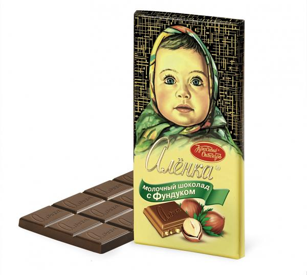 Alenka Milk Chocolate with Hazelnut, 3.52 oz / 100 g