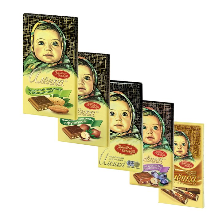 "Chocoloate Bars Set ""ALENKA"", 5 bars"