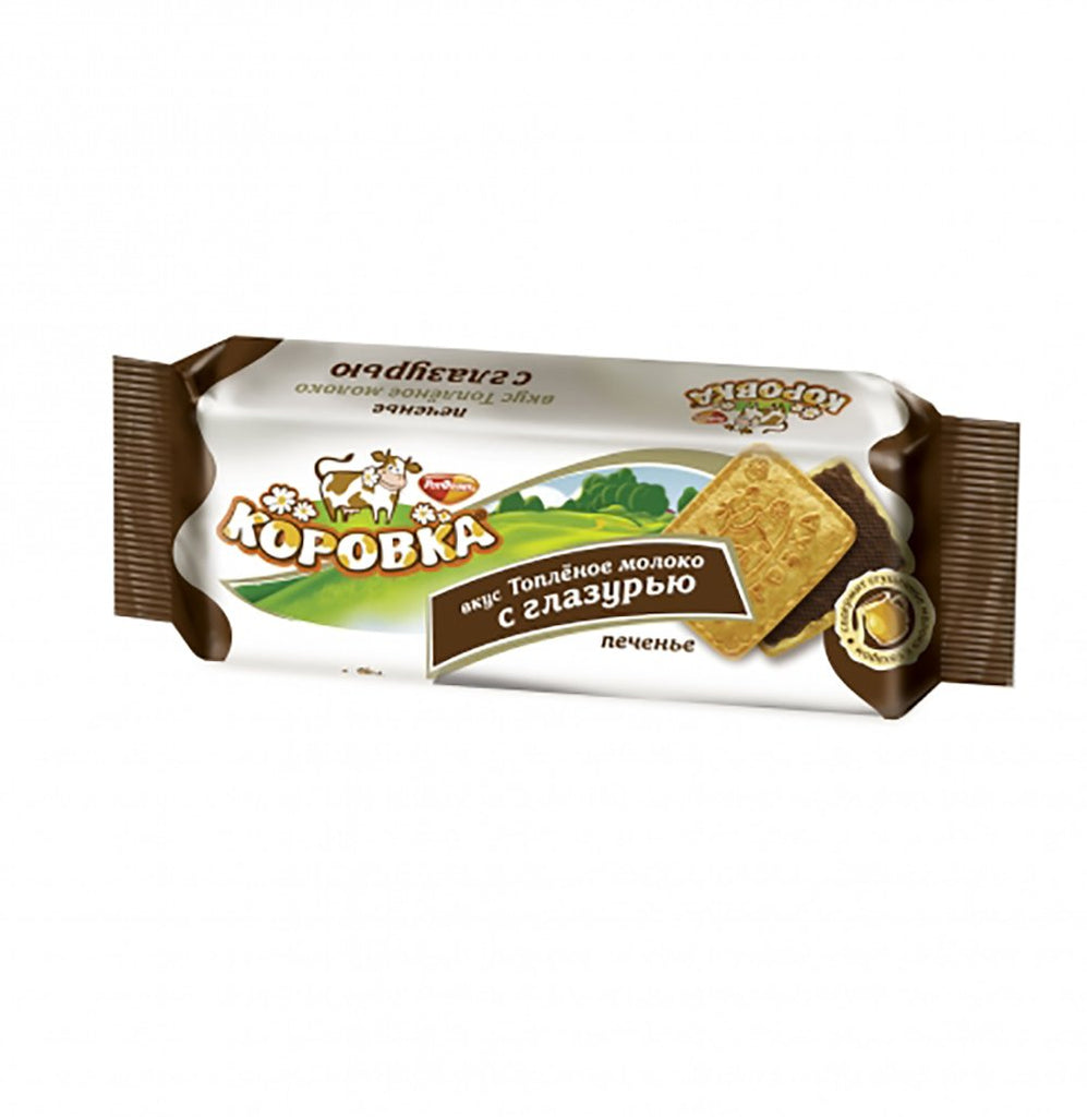 Chocolate Glazed Cookies Korovka (Cow), 0.25 lb/ 115g