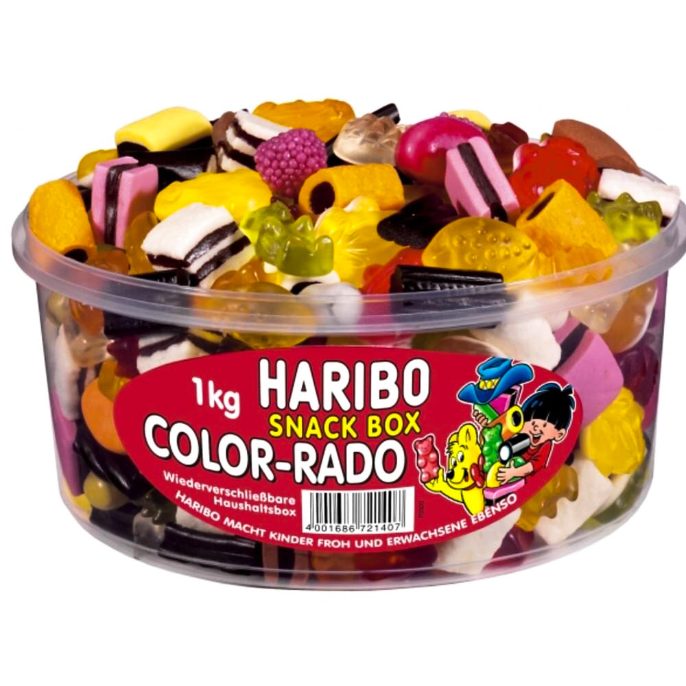 Gummi Candy Haribo Color-Rado Box, 2.2 lb/ 1kg