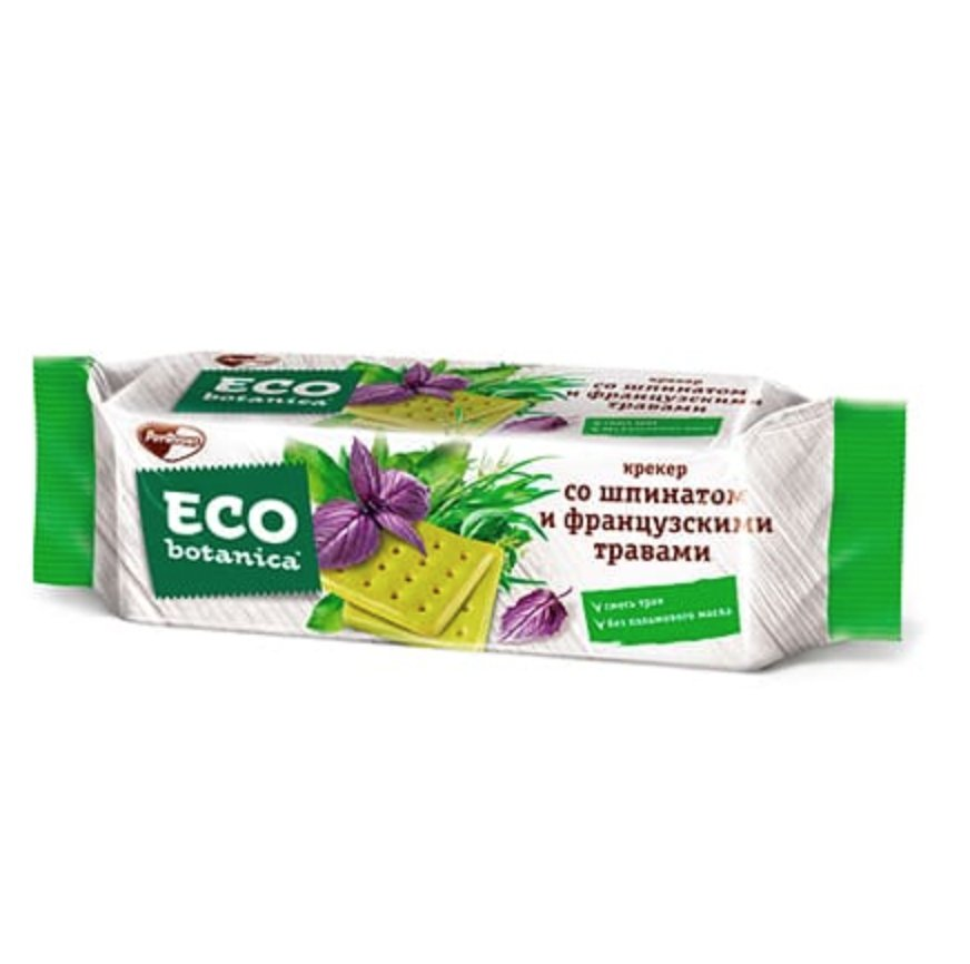 Cracker w/ Spinach and French Herbs, ECO BOTANICA, 0.44 lb/ 200g