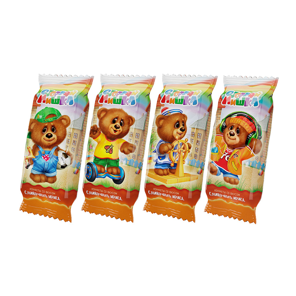 Waffle Candy w/ Butterscotch Flavor, Funny Bear, 0.5 lb / 226 g