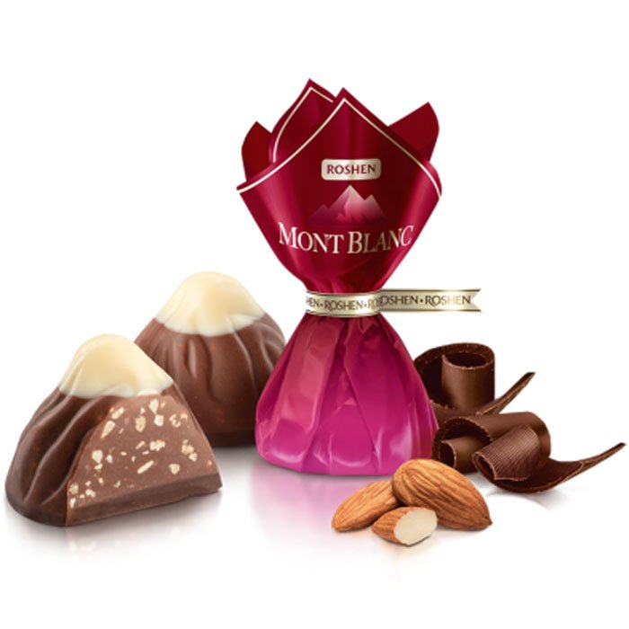 Mont Blanc with Crushed Almonds, 0.5 lb/ 226 g