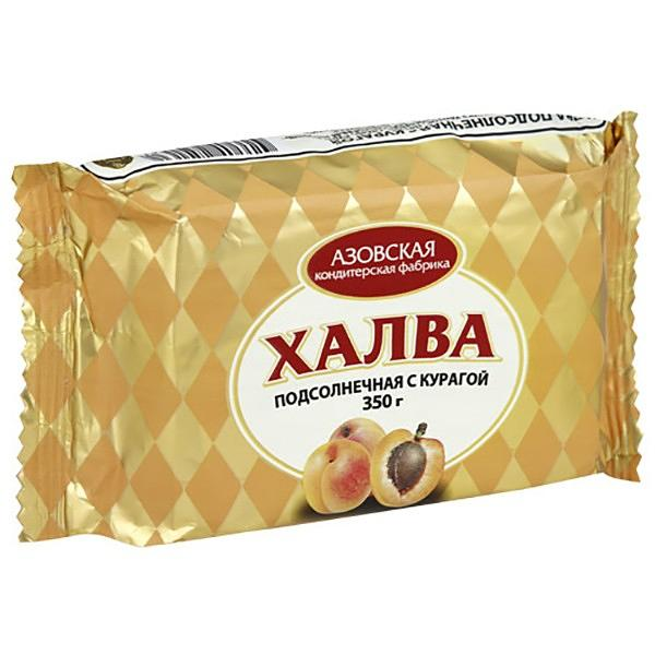 Sunflower Halva with Dried Apricots, 12.59 oz / 350 g