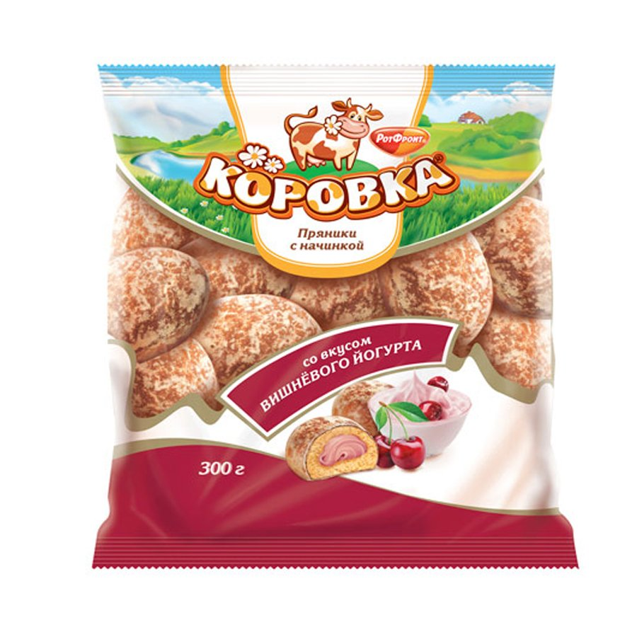Gingerbread Korovka Cherry Yogurt Filling , 0.66 lb/ 300 g
