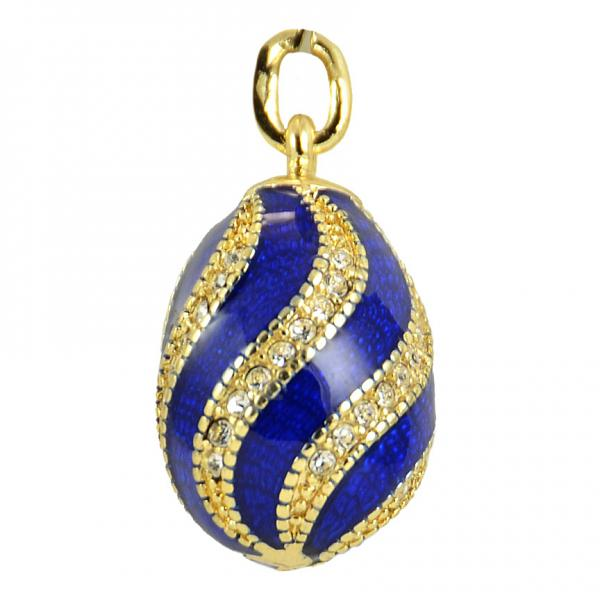 "Russian Style Pendant ""Twist with Jewels"" (blue), 1217-10-02"