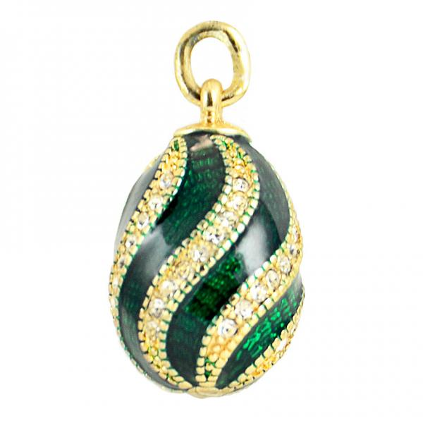 "Russian Style Pendant ""Twist with Jewels"" (green), 1217-10-03"