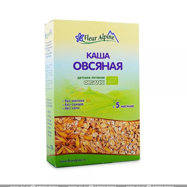 Organic Baby Cereal Oatmeal without Milk (5 Months+), 6.17 oz / 175 g