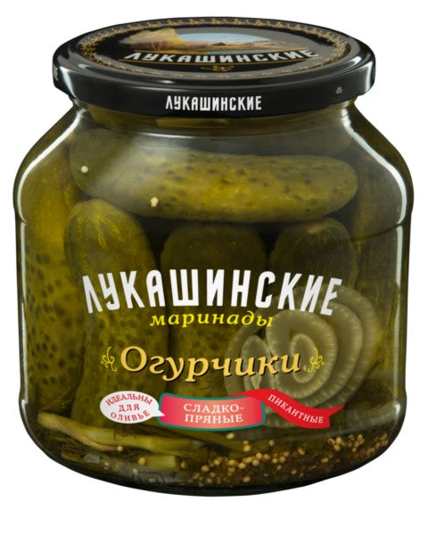 Sweet & Spicy Pickled Cucumbers, 670 gr/ 1.48 lb
