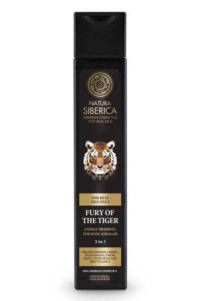 Fury Of The Tiger Energy Shampoo For Body and Hair 2 in 1, 8.5 oz/ 250 ml