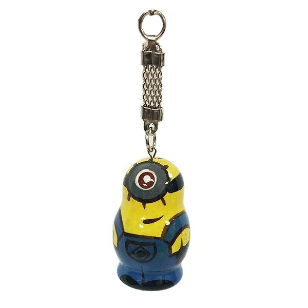 Despicable Me Minion Character Wooden Key Chain, 1.5""