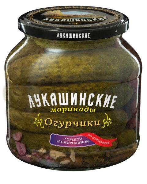 Pickled Cucumbers w/ Horseradish & Black Currant Village Style, 670 gr/ 1.48 lb
