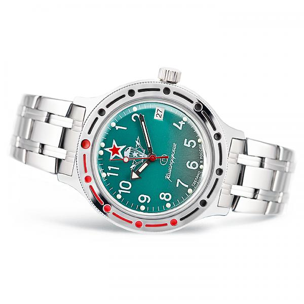 Vostok Amphibian Russian Military Diver's Mechanical Men's Watch Komandirskie VDV (420307)