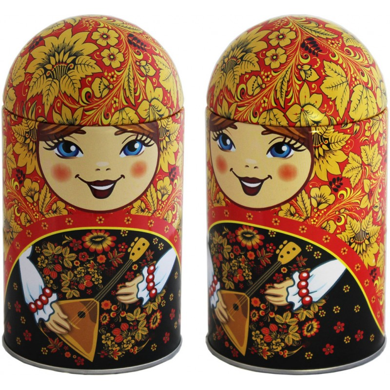 Black Classic Gift Tea in Matryoshka Doll - Balalaika, Rubin, 1.4 oz / 40 g