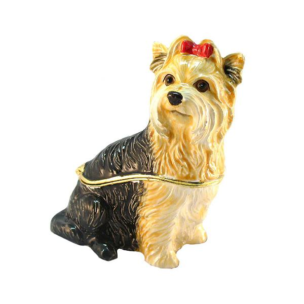 "Trinket Box ""Yorkshire Terrier"", 7 cm x 5.5 cm (2,75"" x 2"") (BP2676K1)"