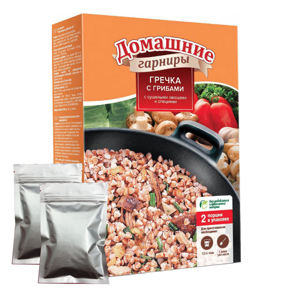 Buckwheat with Mushrooms, 2x150 g, 0.66 lb/ 300g