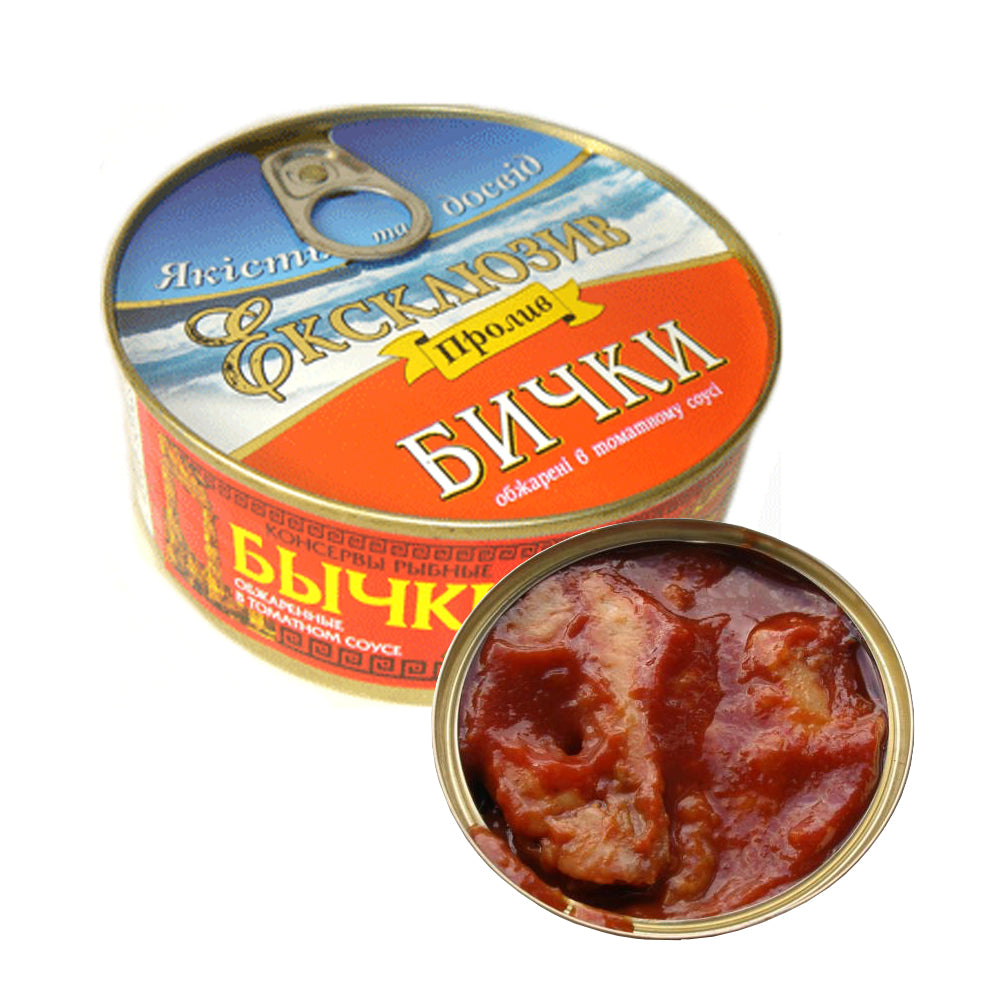 Bullheads in Tomato Sauce Tin Can, 8.78 oz / 240 g