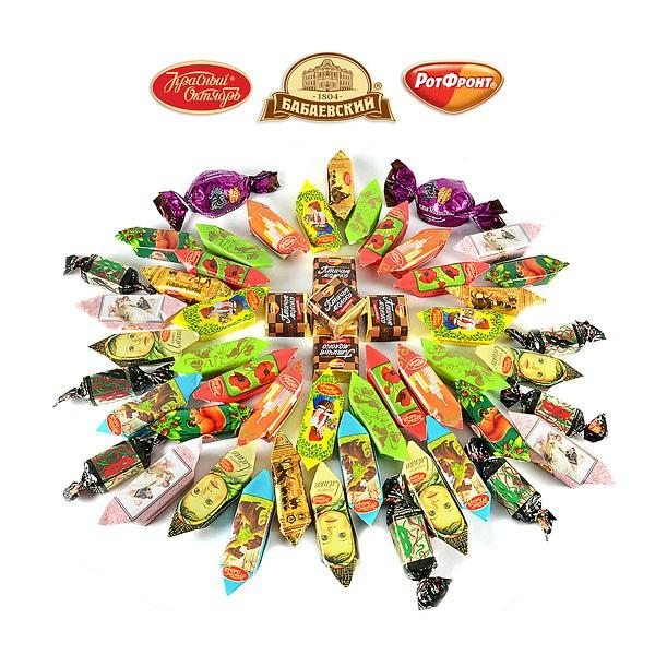 Holiday Chocolate Candy Assortment MOSCOW, 3 lbs / 1.36 kg