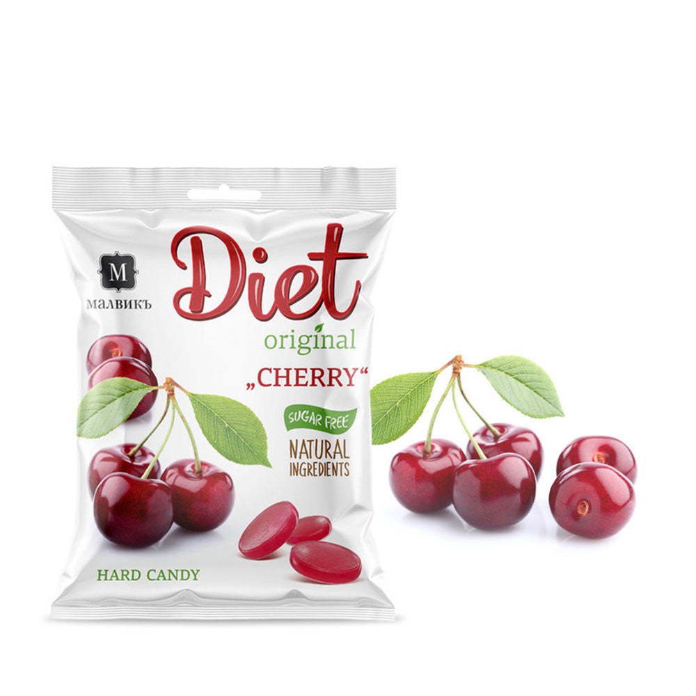 "Diet ""Cherry"" Organic Sugar FREE Candy, 50 g"