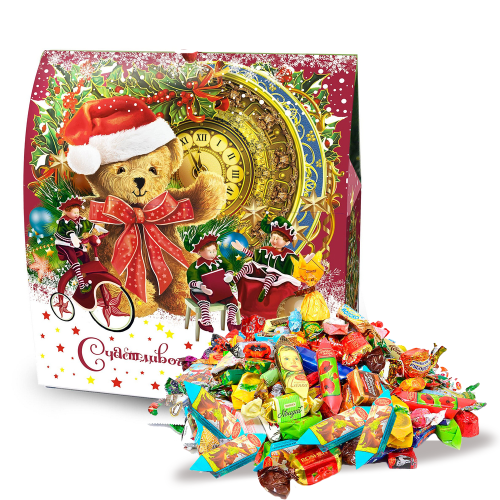 Sweet New Year Gift (assorted candy, cardboard box), Christmas Story, 1 lb