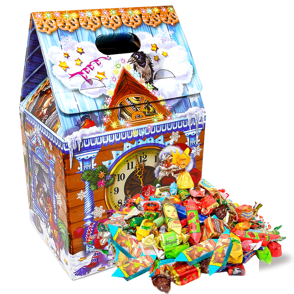 Sweet New Year Gift (assorted candy, cardboard box), Phloem Hut, 5 lb