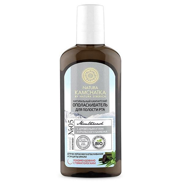 Kamchatka Natural Mouthwash for Safe Whitening and Enamel Protection with Kuril Bamboo Charcoal, 8.45 oz / 250 ml