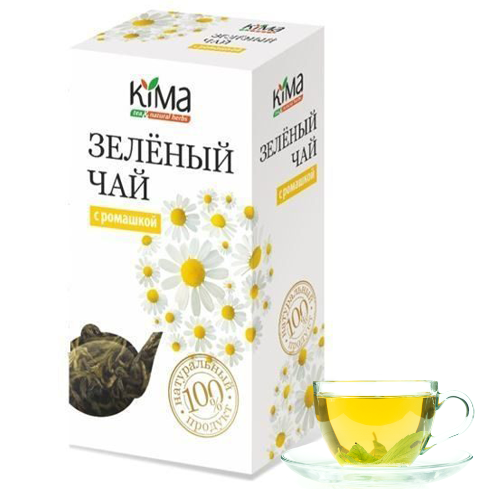 KIMA Green Leaf Tea with Chamomile, 75 g