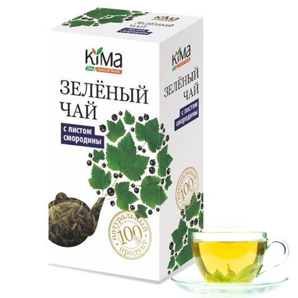 KIMA Green Leaf Tea with Currant Leaf, 75 g