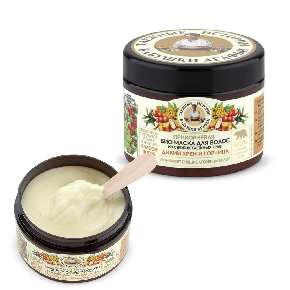 Hair Activating Mask for Root, Wild Horseradish & Mustard, Taiga tales, 10.14 oz/ 300 ml