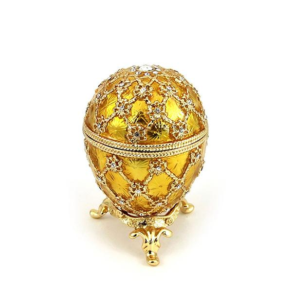 "Easter Gift Ideas Coronation Egg with Clock (golden), 2.75"" / 8 cm (HJD0725CL-5)"