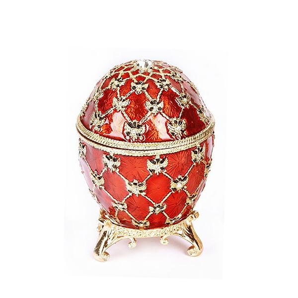 "Easter Gift Ideas Coronation Egg with Clock (red), 2.75"" / 8 cm (HJD0725CL)"