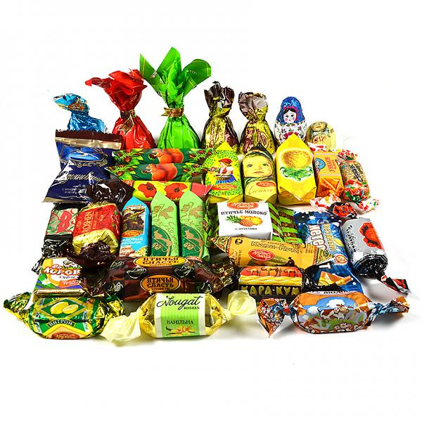 Gourmet Russian Chocolate Candy Assortment for Holidays, 1 lb / 0.45 kg