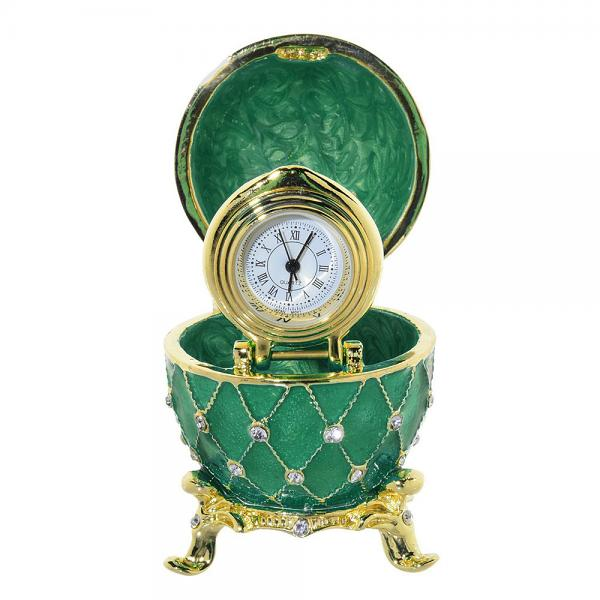 "Easter Gift Ideas Egg Box with the Clock (green), 2.5"" / 7 cm (HAD300CL-2)"