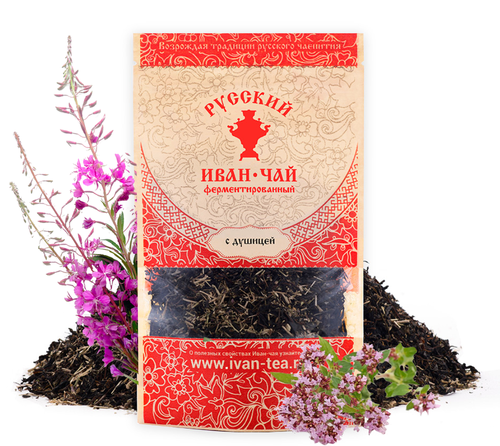 Ivan-Tea Fireweed Black Fermented Small-Leaf w/ Oregano,  50 g/ 0.11 lb