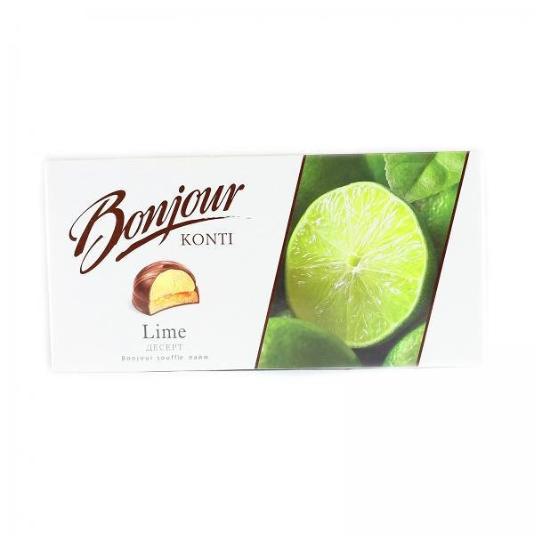"Chocolate Glazed Zefir ""Bonjour"" with Lime Flavor, 232 g"