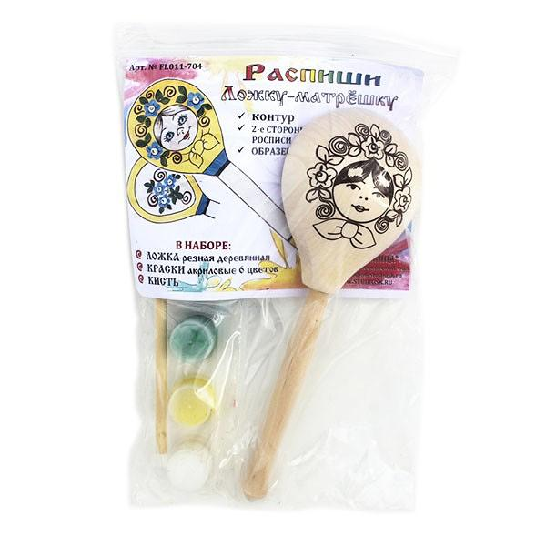 Wooden Spoon Coloring Art Kit, 1 pc, 7.5""