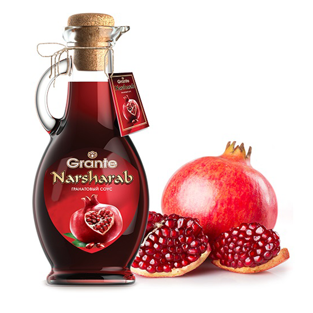 100% Natural Pomegranate Sauce, Narsharab, 12.34 oz / 350 g