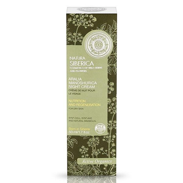 "Face Night Cream for Dry Skin ""Nourishing and Regeneration"" with Aralia, 1.69 oz/ 50 Ml"