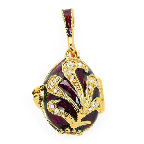 Locket Pendant Fire Bird (red), (1214-6201)