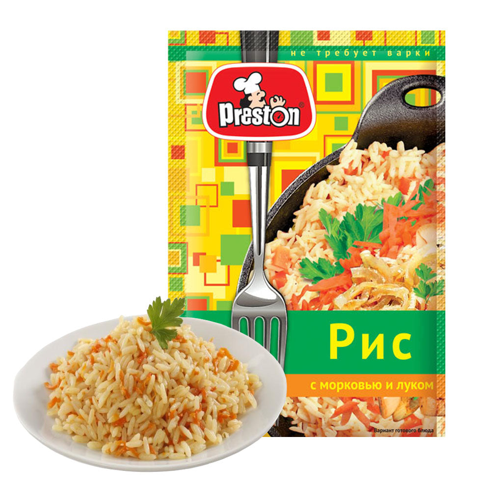Rice with Carrots and Onions (does not require cooking), 0.09 lb/ 40 g