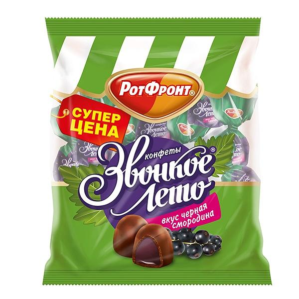 "Jelly Candies with Black Currant ""Zvonkoe Leto"", 8.8 oz / 250 g"