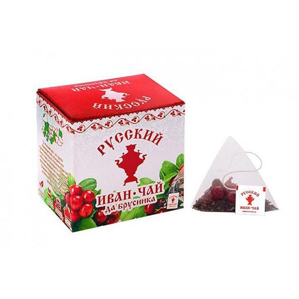 Ivan Tea with Lingonberry, 10 pyramids